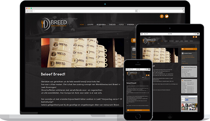 Restaurant Breed Webdesigndiensten
